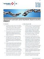 MODERN SLAVERY AND HUMAN TRAFFICKING POLICY