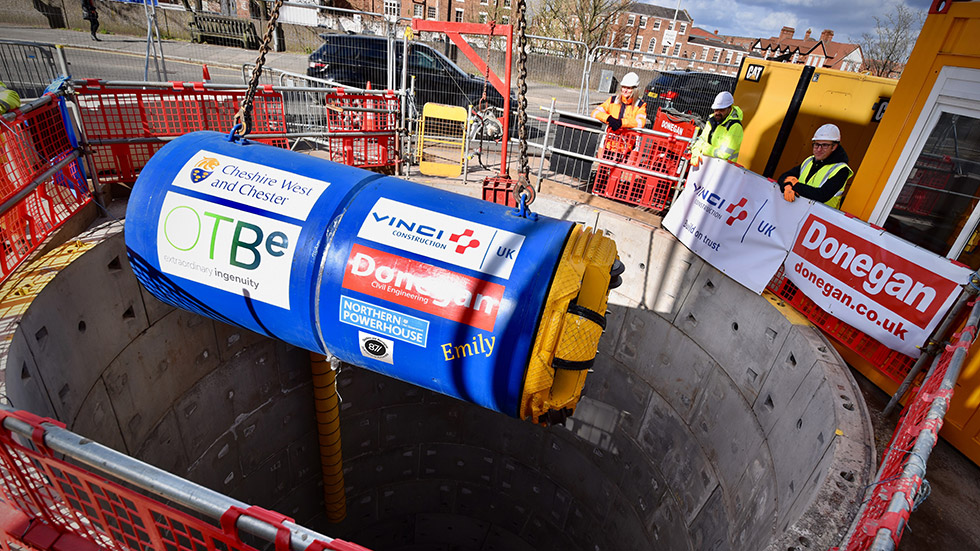 VINCI Construction UK starts Tunnelling work on Chester's new drain