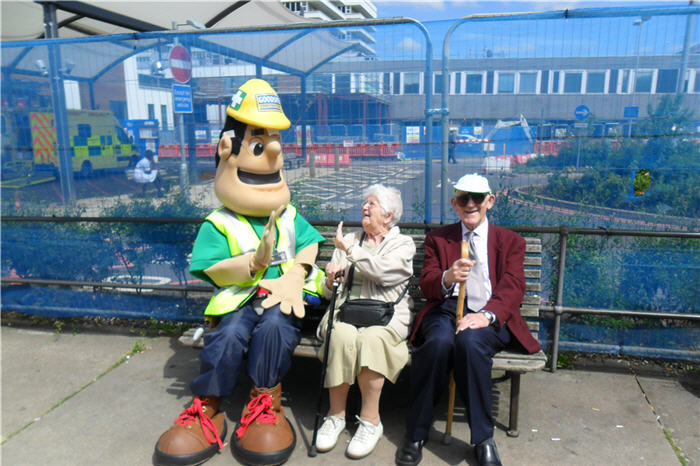 Lister Hospital patients and visitors see the fun side of construction