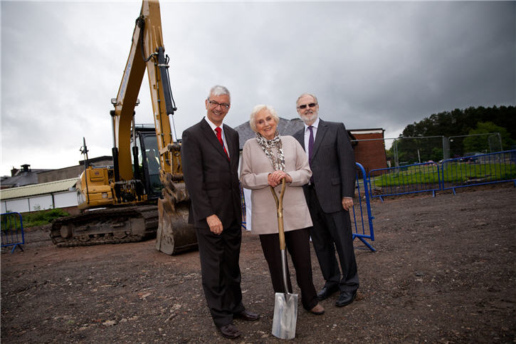 Ground breaking ceremony for Wrightington Hospital