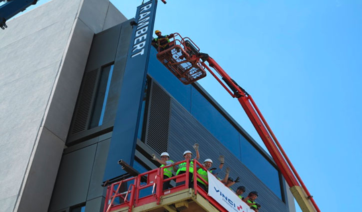 Rambert sign moves into position