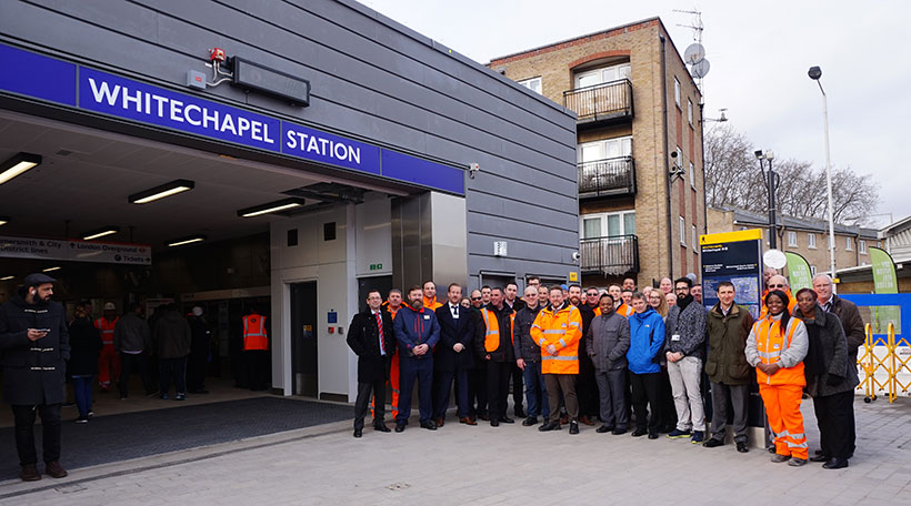 BBMV Successfully Hands Over Crossrail's Whitechapel Temporary Station