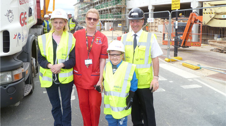 Construction team make a young patient's wish come true