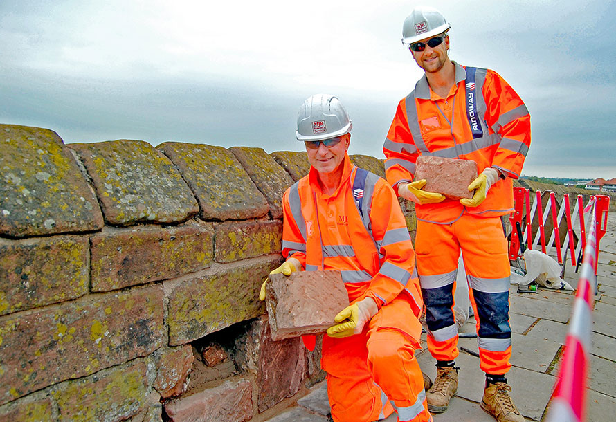 Roman Stone Recovered from Chester Northgate to be used in City Walls Repair
