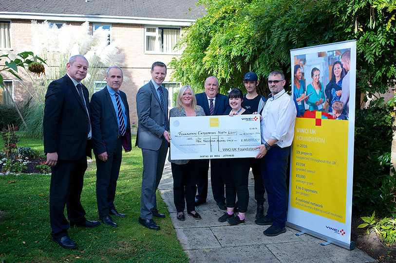 VINCI UK Foundation support for Foundation Enterprises North West
